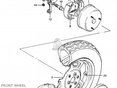 Suzuki Cs125 1983 d e1 E2 E4 E6 E15 E17 E18 E21 E22 E24 E25 E26 E39 Front Wheel
