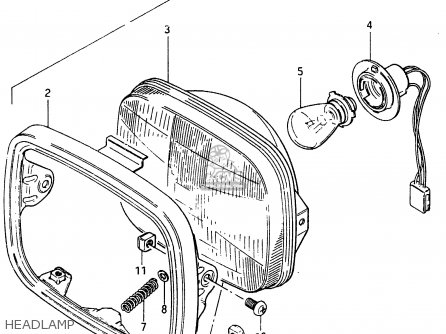 Suzuki Cs125 1983 d e1 E2 E4 E6 E15 E17 E18 E21 E22 E24 E25 E26 E39 Headlamp
