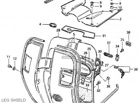 Suzuki Cs125 1983 d e1 E2 E4 E6 E15 E17 E18 E21 E22 E24 E25 E26 E39 Leg Shield