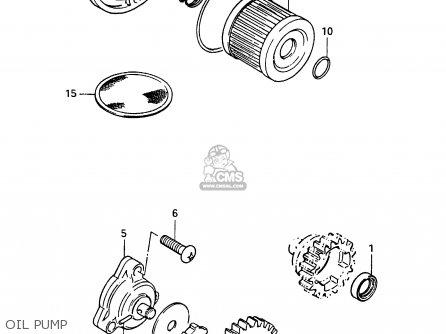 Suzuki Cs125 1983 d e1 E2 E4 E6 E15 E17 E18 E21 E22 E24 E25 E26 E39 Oil Pump
