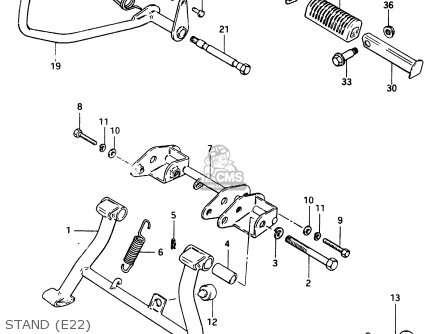 Suzuki Cs125 1983 d e1 E2 E4 E6 E15 E17 E18 E21 E22 E24 E25 E26 E39 Stand e22