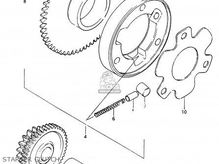 Suzuki Cs125 1983 d e1 E2 E4 E6 E15 E17 E18 E21 E22 E24 E25 E26 E39 Starter Clutch