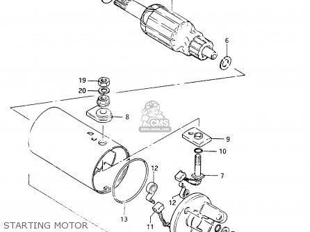 Suzuki Cs125 1983 d e1 E2 E4 E6 E15 E17 E18 E21 E22 E24 E25 E26 E39 Starting Motor