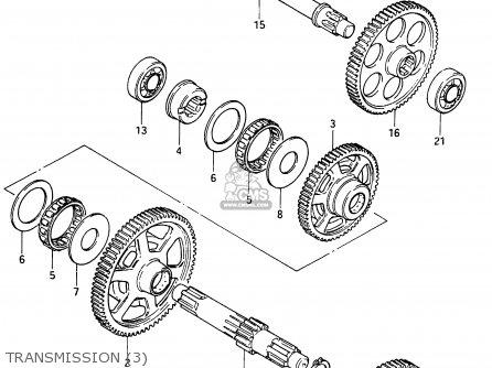 Suzuki Cs125 1983 d e1 E2 E4 E6 E15 E17 E18 E21 E22 E24 E25 E26 E39 Transmission 3