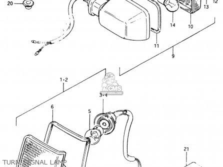 Suzuki Cs125 1983 d e1 E2 E4 E6 E15 E17 E18 E21 E22 E24 E25 E26 E39 Turn Signal Lamp