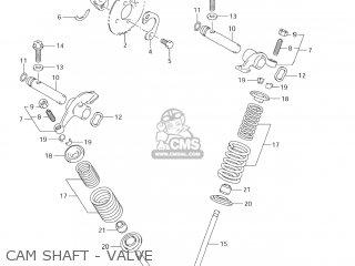 Suzuki Dr-z125 2003 k3 Usa e03 Drz125 Dr Z125 Cam Shaft - Valve