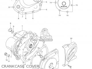 Suzuki Dr-z125 2003 k3 Usa e03 Drz125 Dr Z125 Crankcase Cover