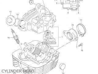 Suzuki Dr-z125 2003 k3 Usa e03 Drz125 Dr Z125 Cylinder Head