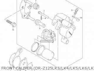 Suzuki Dr-z125 2003 k3 Usa e03 Drz125 Dr Z125 Front Caliper dr-z125lk3 lk4 lk5 lk6 lk7