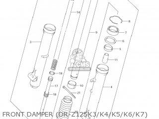 Suzuki Dr-z125 2003 k3 Usa e03 Drz125 Dr Z125 Front Damper dr-z125k3 k4 k5 k6 k7