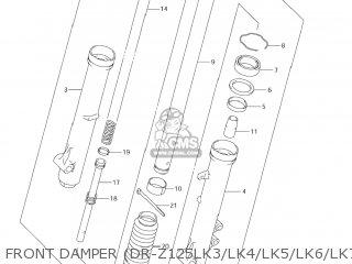 Suzuki Dr-z125 2003 k3 Usa e03 Drz125 Dr Z125 Front Damper dr-z125lk3 lk4 lk5 lk6 lk7