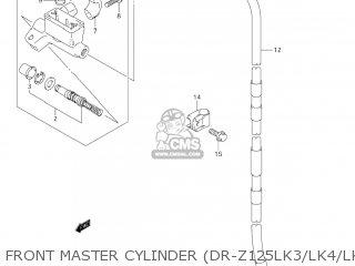 Suzuki Dr-z125 2003 k3 Usa e03 Drz125 Dr Z125 Front Master Cylinder dr-z125lk3 lk4 lk5 lk6 lk7