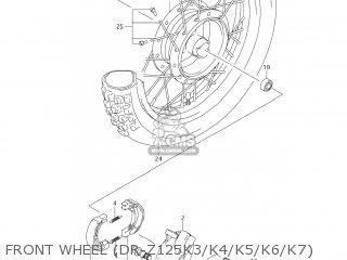 Suzuki Dr-z125 2003 k3 Usa e03 Drz125 Dr Z125 Front Wheel dr-z125k3 k4 k5 k6 k7
