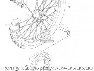 Suzuki Dr-z125 2003 k3 Usa e03 Drz125 Dr Z125 Front Wheel dr-z125lk3 lk4 lk5 lk6 lk7