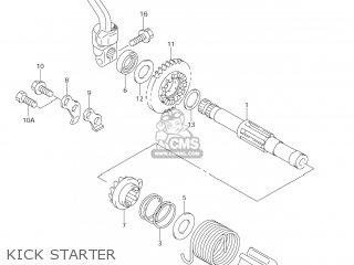 Suzuki Dr-z125 2003 k3 Usa e03 Drz125 Dr Z125 Kick Starter