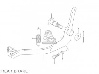 Suzuki Dr-z125 2003 k3 Usa e03 Drz125 Dr Z125 Rear Brake