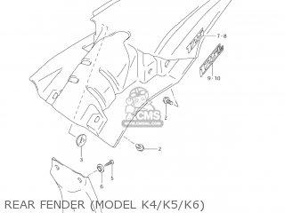 Suzuki Dr-z125 2003 k3 Usa e03 Drz125 Dr Z125 Rear Fender model K4 k5 k6