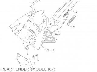 Suzuki Dr-z125 2003 k3 Usa e03 Drz125 Dr Z125 Rear Fender model K7