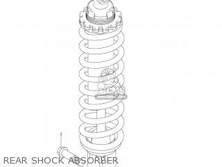 Suzuki Dr-z125 2003 k3 Usa e03 Drz125 Dr Z125 Rear Shock Absorber