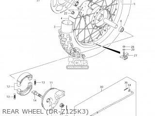 Suzuki Dr-z125 2003 k3 Usa e03 Drz125 Dr Z125 Rear Wheel dr-z125k3