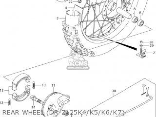 Suzuki Dr-z125 2003 k3 Usa e03 Drz125 Dr Z125 Rear Wheel dr-z125k4 k5 k6 k7
