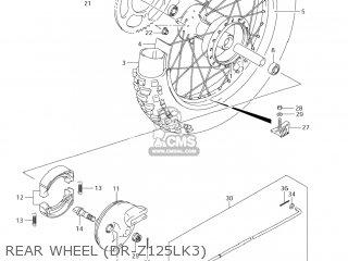 Suzuki Dr-z125 2003 k3 Usa e03 Drz125 Dr Z125 Rear Wheel dr-z125lk3