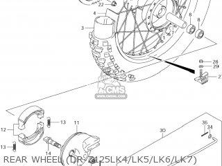 Suzuki Dr-z125 2003 k3 Usa e03 Drz125 Dr Z125 Rear Wheel dr-z125lk4 lk5 lk6 lk7