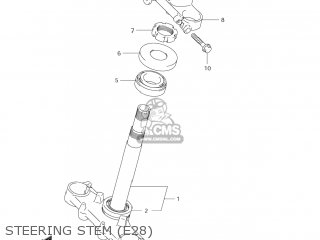 Suzuki Dr-z125 2003 k3 Usa e03 Drz125 Dr Z125 Steering Stem e28