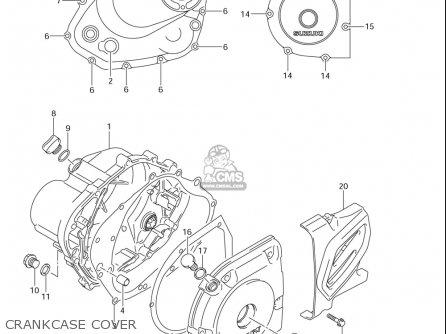 Suzuki Dr-z125  l usa Crankcase Cover