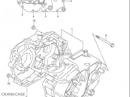 Suzuki Dr-z125  l usa Crankcase