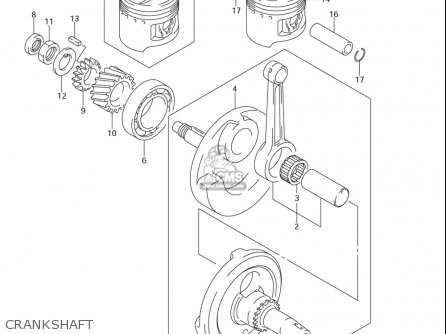 Suzuki Dr-z125  l usa Crankshaft