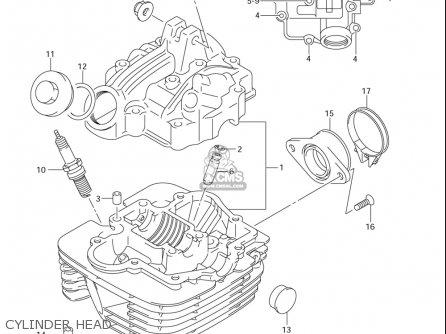 Suzuki Dr-z125  l usa Cylinder Head