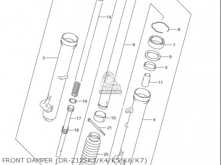 Suzuki Dr-z125  l usa Front Damper dr-z125k3 k4 k5 k6 k7