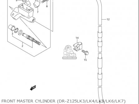 Suzuki Dr-z125  l usa Front Master Cylinder dr-z125lk3 lk4 lk5 lk6 lk7