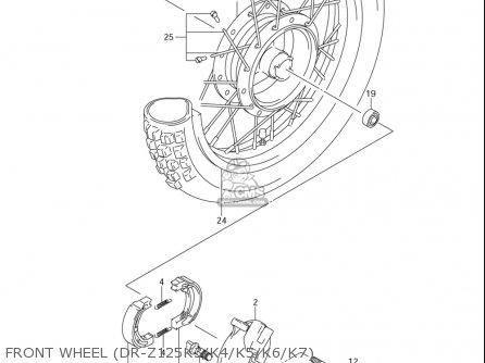 Suzuki Dr-z125  l usa Front Wheel dr-z125k3 k4 k5 k6 k7