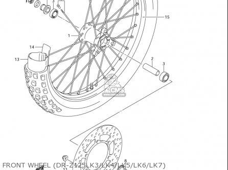 Suzuki Dr-z125  l usa Front Wheel dr-z125lk3 lk4 lk5 lk6 lk7