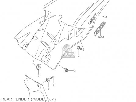 Suzuki Dr-z125  l usa Rear Fender model K7
