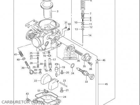 suzuki dr z250  usa  parts list partsmanual partsfiche 2001 suzuki drz 250