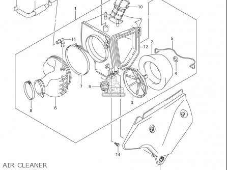 Suzuki Dr-z400 S usa Air Cleaner