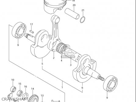 Suzuki Dr-z400 S usa Crankshaft