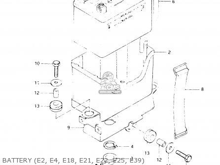 Suzuki Dr250 1982 sz Battery e2  E4  E18  E21  E22  E25  E39
