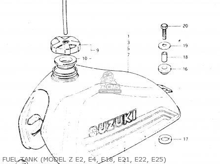 Suzuki Dr250 1982 sz Fuel Tank model Z E2  E4  E18  E21  E22  E25
