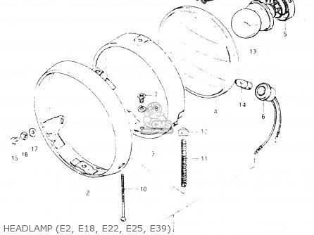 Suzuki Dr250 1982 sz Headlamp e2  E18  E22  E25  E39