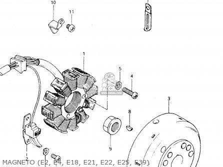 Suzuki Dr250 1982 sz Magneto e2  E4  E18  E21  E22  E25  E39