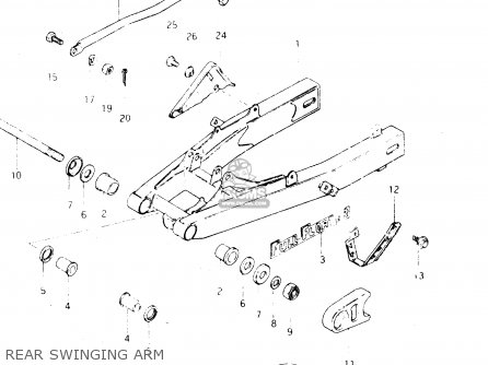 Suzuki Dr250 1982 sz Rear Swinging Arm