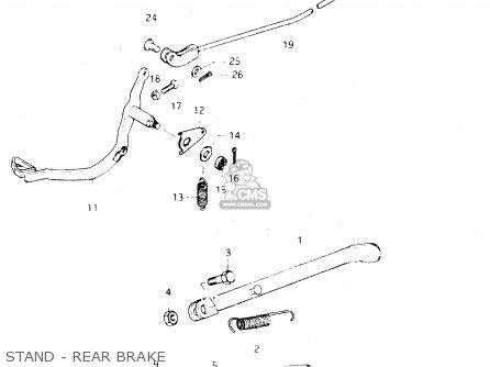 Suzuki Dr250 1982 sz Stand - Rear Brake