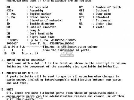 Suzuki Dr250 1982 sz   Catalog Preface