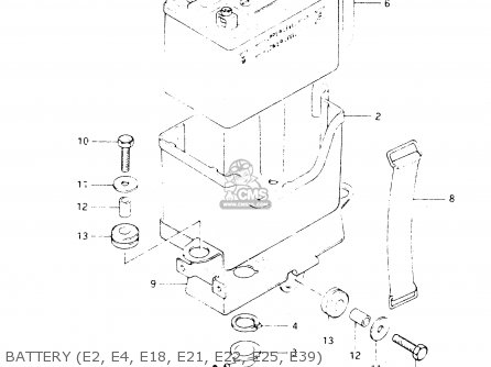 Suzuki Dr250s 1982 z Battery e2  E4  E18  E21  E22  E25  E39