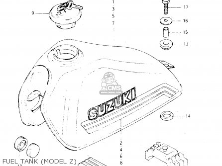 Suzuki Dr250s 1982 z Fuel Tank model Z