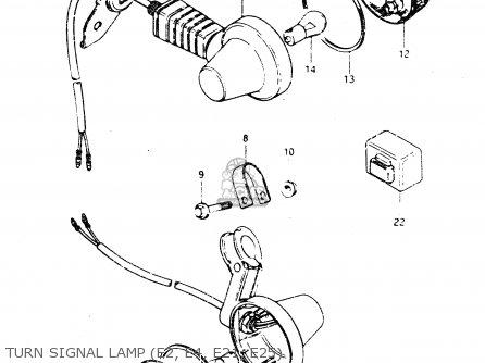 Suzuki Dr250s 1982 z Turn Signal Lamp e2  E4  E21  E25